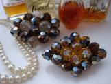 Crystal Cluster Brooches
