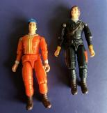 Two 1980s A-team articulated figures