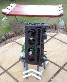 1968 Citroen DS Engine Block Wine Rack and Table