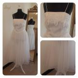 White Vintage Ballerina Wedding Dress 10-12