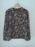 Gold leaf design eighties blouse